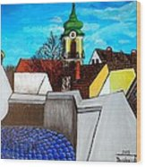 Szentendre - View From The Castlehill Wood Print