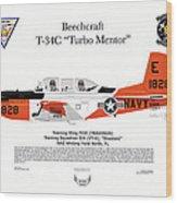 T-34c Turbo Mentor Vt-6 Wood Print