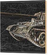 T-54 Soviet Tank Bk-bg Wood Print