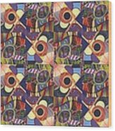 T J O D Tile Variations 10 Wood Print