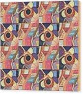 T J O D Tile Variations 19 Wood Print
