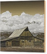 T.a. Moulton Barn In The Grand Tetons Wood Print