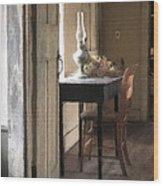 Table At Olsons 2 Wood Print