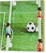 Table Football Wood Print