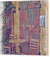 Table For Two  Wood Print