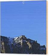 Table Mountain And Moon   #0562 Wood Print