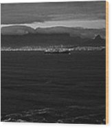 Table Mountain Black And White 3 Wood Print