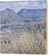Table Mountain Cape Town South Africa Wood Print