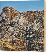 Table Mountain In Winter 42 Wood Print