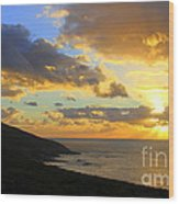 Table Mountain South Africa Sunset Wood Print