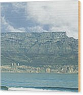 Table Mountain Wood Print