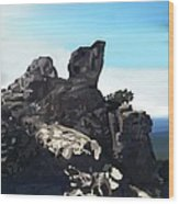 Table Rock Calistoga California Wood Print