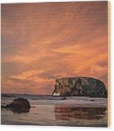 Table Rock Sunset Wood Print