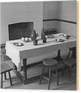 Colonial Table Wood Print