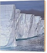 Tabular Iceberg Wood Print