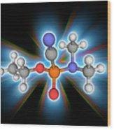 Tabun Chemical Compound Molecule Wood Print