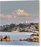 Tacoma City Skyline Wood Print
