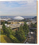 Tacoma Dome And Auto Museum Wood Print