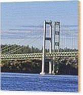 Tacoma Narows Bridge 54 Wood Print