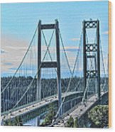 Tacoma Narrows Bridge 51 Wood Print