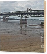 Tacony Palmyra Bridge Wood Print