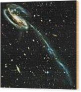 Tadpole Galaxy Wood Print