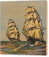 Taeping And Ariel, British Tea Clippers Wood Print