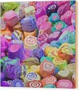 Taffy Candyland Wood Print