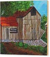 Tafoya's Old Sawmill In Colorado Wood Print by Janis  Tafoya