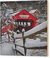 Taftsville Covered Bridge Wood Print