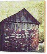 Tag Barn Wood Print
