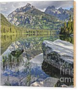 Taggart Lake  Grand Teton National Park Wood Print