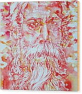 Tagore Wood Print