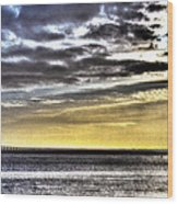 Big Clouds Over Tagus River Wood Print