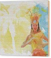 Tahitian Dancer Wood Print