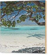 Tahitian Paradise Wood Print