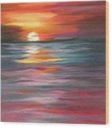 Tahitian Sunset Wood Print