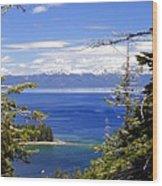Tahoe Blue Wood Print