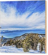 Tahoe From Heavenly Wood Print