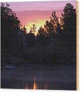 Tahoe Keys Sunrise Wood Print