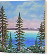 Tahoe Pines Wood Print