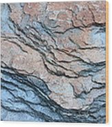 Tahoe Rock Formation Wood Print