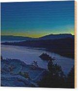Tahoe Sunrise Wood Print