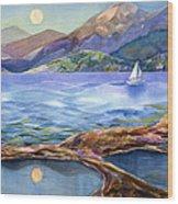 Tahoe Tides Wood Print by Jen Norton