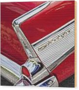 Tail Fins Are In 1957 Chevy Wood Print