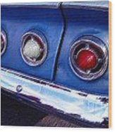 Tail Lights And Fenders Wood Print