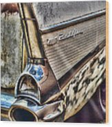 Taillight 1957 Chevy Bel Air Wood Print