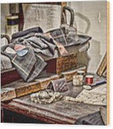 Tailors Work Bench Wood Print