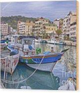 Taiwan Boats Wood Print