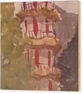 Taiwan Pagoda Wood Print